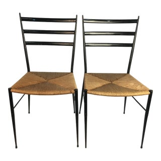 1970s Vintage Gio Ponti Chairs - a Pair For Sale