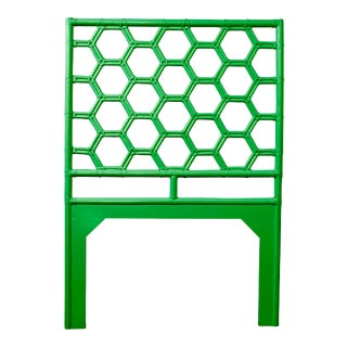 Honeycomb Headboard Twin - Bright Green For Sale