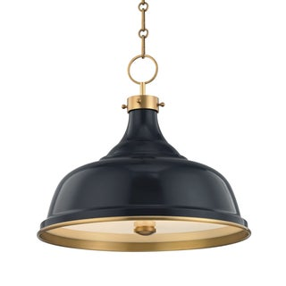 Painted No.1 3 Light Pendant - AGB/DBL Preview