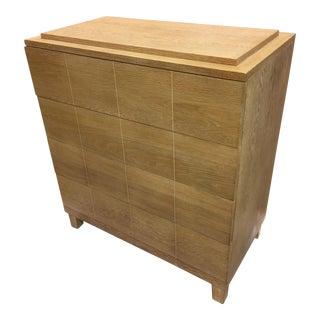 Modernist Custom Made Cerused Oak Dresser For Sale