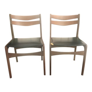 Mid-Century Danish Teak Chairs - a Pair For Sale