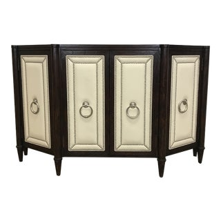 Leather Accent Dining Console