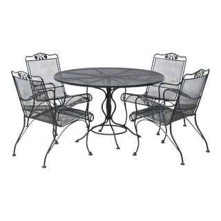 Woodard Outdoor Patio Dining Table & Chairs