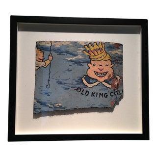 Framed Vintage Nursery Character - Old King Cole For Sale