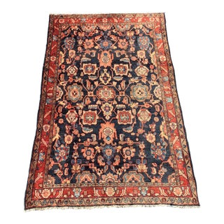 1960s Vintage Persian Malayer Rug - 4′6″ × 7′3″ For Sale