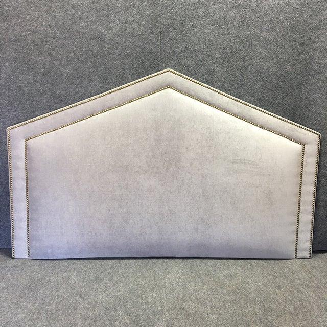 King Size Grey Upholstered Headboard - Image 3 of 6