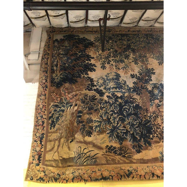 A 17th / Early 18th Century Flemish Pastoral Tapestry Prov. Christies NYC. For Sale - Image 4 of 12