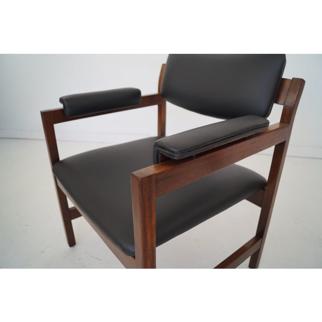 Mid-Century Walnut Arm Chairs - a Pair For Sale - Image 10 of 11