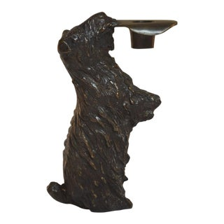 Bronze Department 56 Scottie Dog Candle Holder For Sale