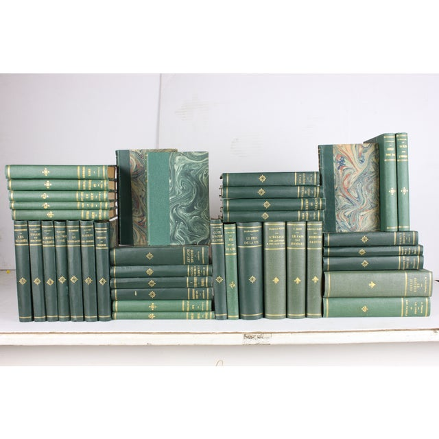 French Designer Books in Greens - Set of 38 - Image 2 of 3