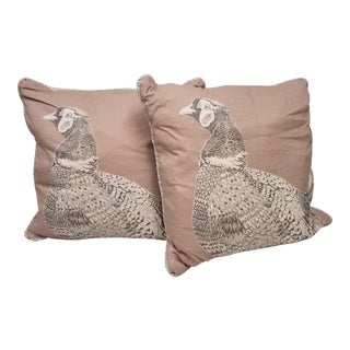Game Bird Pillows - A Pair For Sale