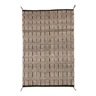 "Vintage Navajo Style Twill Weave Saddle Blanket, 2'6"" X 3'7"" For Sale"