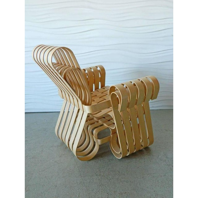 Contemporary 1990s Vintage Frank Gehry Power Play Chair and Ottoman For Sale - Image 3 of 4