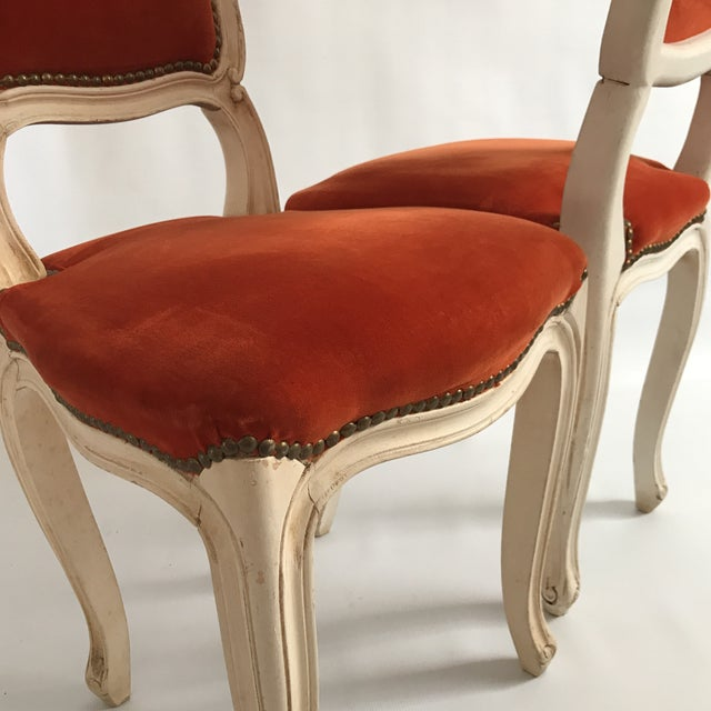 Vintage Upholstered Side Chairs A Pair Image 6 Of 11
