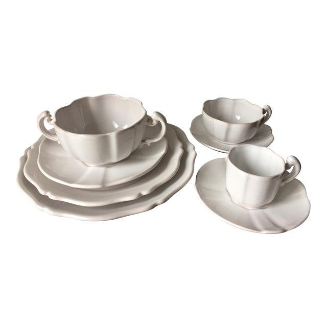 Gien Terra Cotta Faience Dishes-48 Pieces-Rouard,Paris For Sale