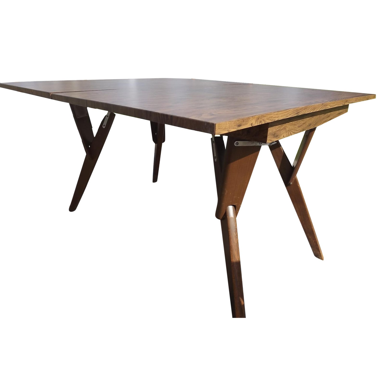 vintage castro convertible coffee dining table  chairish
