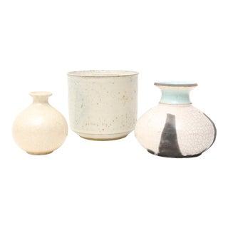 Mid-Century Modern Handmade Studio Pottery Vases - Set of 3