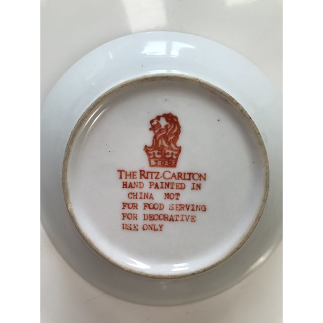 Asian Trinket Dish/Catch-All Made for the Ritz Carlton For Sale - Image 3 of 4
