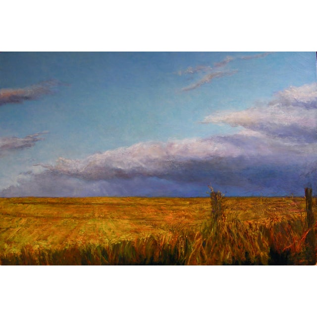 Wheatfield Contemporary Landscape Painting For Sale - Image 4 of 5