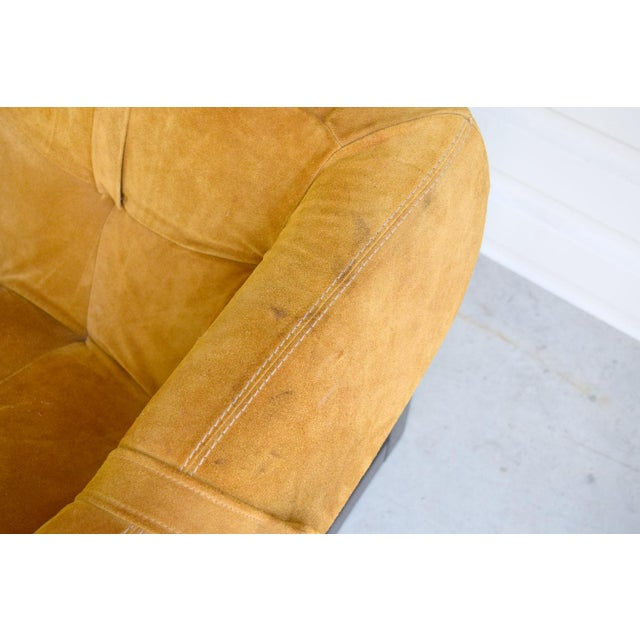 Gold Percival Lafer Brazilian Rosewood & Suede Lounge Chairs - A Pair For Sale - Image 8 of 11