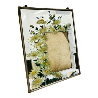 Antique Mirrored Frame For Sale