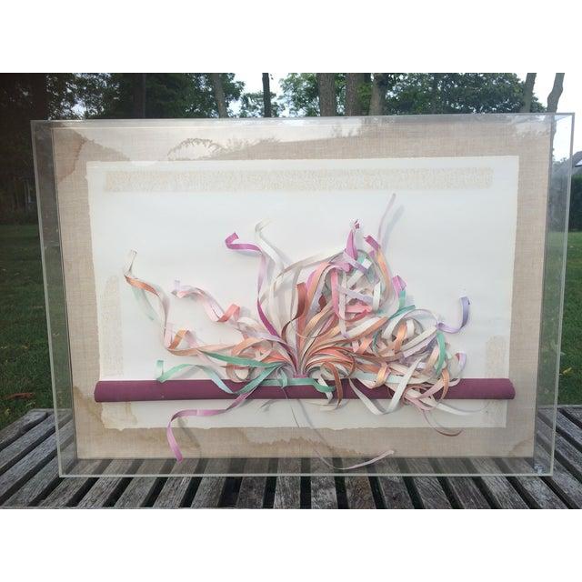 Greg Copeland Paper Sculpture in Plexiglass Frame - Image 2 of 7