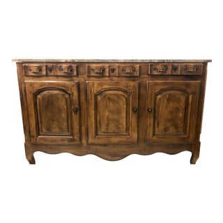 Heritage French Style Marble Top Buffet For Sale