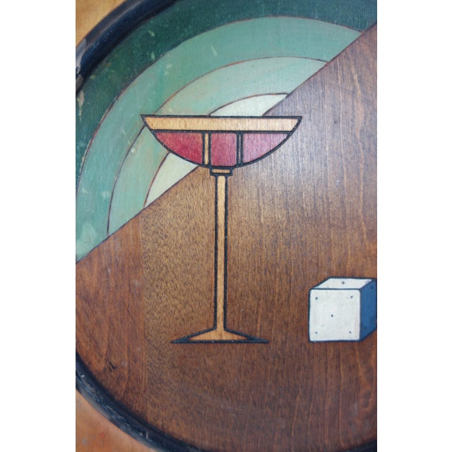 1940's Seceni Art Deco Gambling Platter For Sale - Image 9 of 11