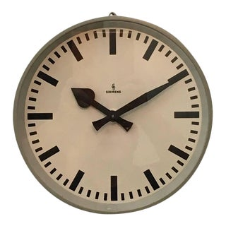 Factory clock from Siemens, 1950s For Sale