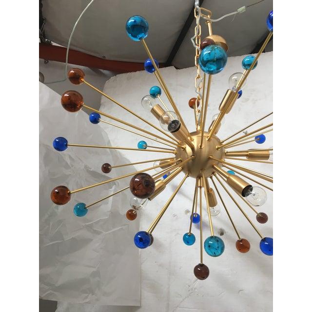 Murano Contemporary Murano Glass Triedo Sputnik Chandelier For Sale - Image 4 of 13