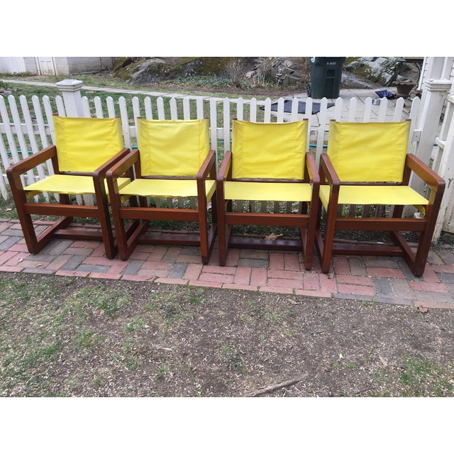 Mid 20th Century California Redwood Mid-Century Patio Chairs - Set 4 For Sale - Image 5 of 5
