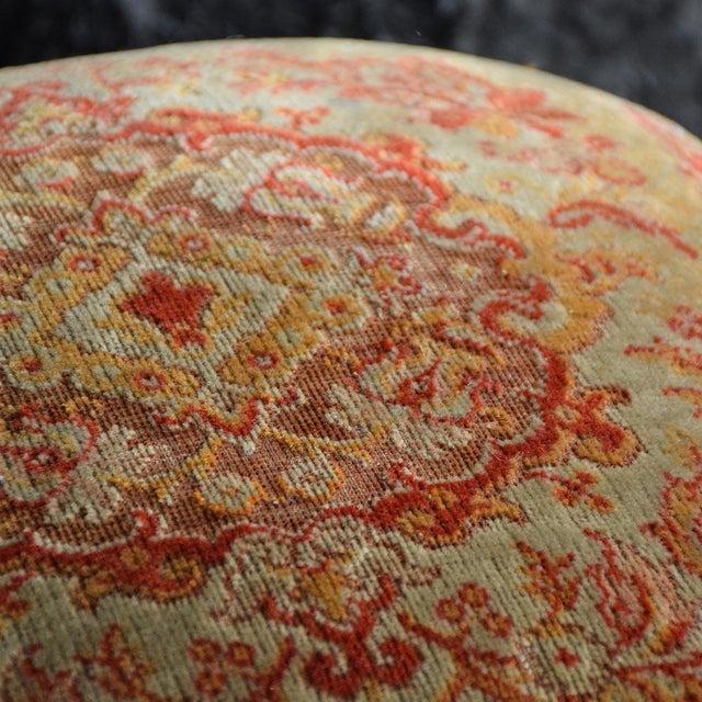 19th Century English Ebonised Carpet Stool For Sale - Image 9 of 13
