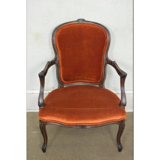 1970s Vintage French Louis Style Arm Chairs - A Pair Preview