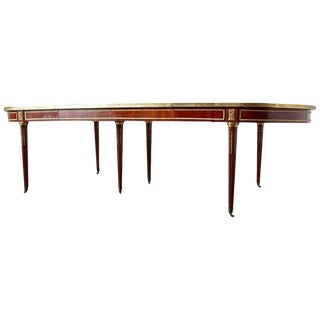 Maison Jansen Louis XVI Style Mahogany Dining Table For Sale