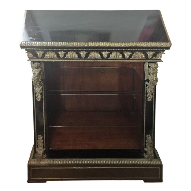 Neoclassical Napolean III Lacquered Bookcase For Sale - Image 3 of 10