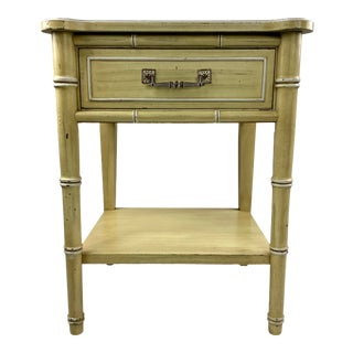 "1960s Henry Link ""Bali Hai"" Faux Bamboo Nightstand For Sale"