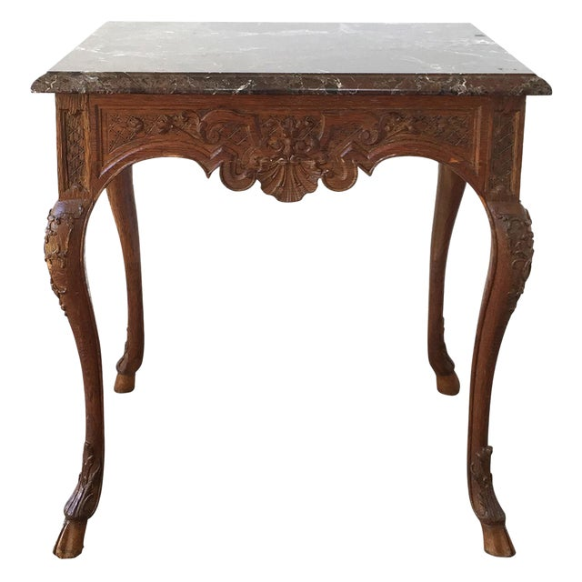 French Regency Style Marble Top Side Table - Image 1 of 5