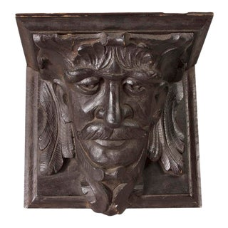 19th C. Carved Wood Bracket Shelf, From Brooklyn Ny. Brownstone For Sale