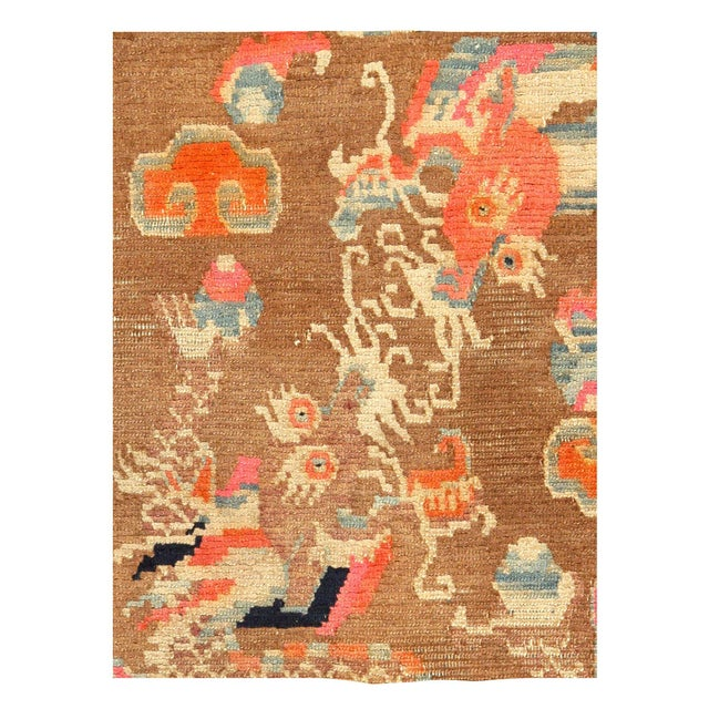 Beautiful Antique Dragon Chinese Carpet, Country of Origin: China, Circa Date: 1920's — This beautiful Chinese carpet...