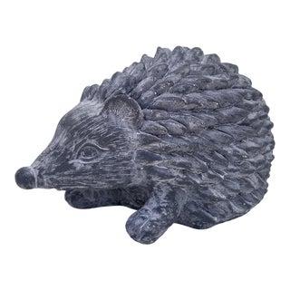 1970s Vintage Hedgehog Pottery Statue For Sale