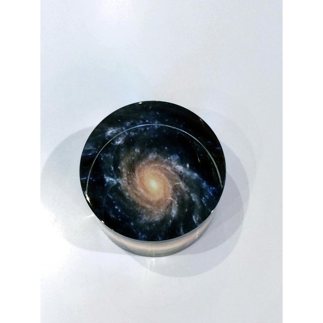 DWM | MALOOS Galaxy Motif Lucite Paperweight For Sale In San Francisco - Image 6 of 7
