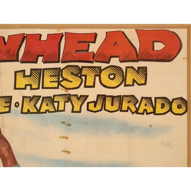 Movie Poster of Arrowhead starring Charlton Heston, circa 1953 For Sale - Image 4 of 11