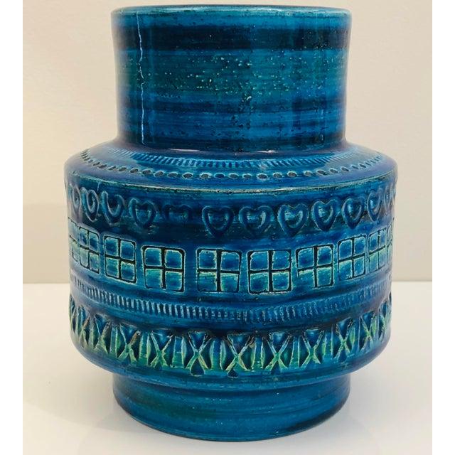 Italian Aldo Londi for Bittosi Rimini Blue Vase For Sale - Image 3 of 7