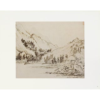 1940s Chinese Monochrome Landscape, First Edition Swiss Photogravure For Sale