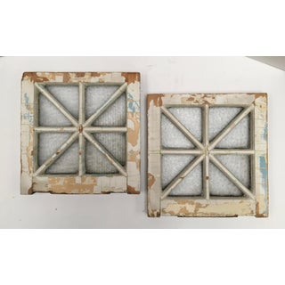 1880s Florentine Glass Starburst Mullion Windows - A Pair Preview