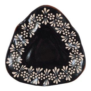Triangular Floral Trinket Dish For Sale
