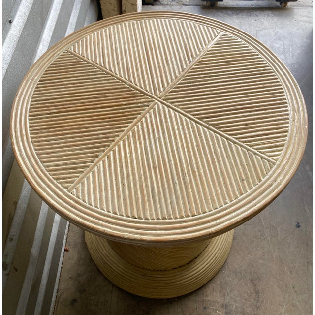 Contemporary Pretzel Reed Pedestal Table Base For Sale - Image 3 of 6