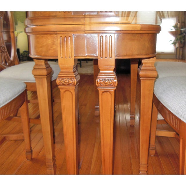 1930's Myrtlewood Dining Table and Chairs (1 of 3 Listings) For Sale - Image 4 of 11