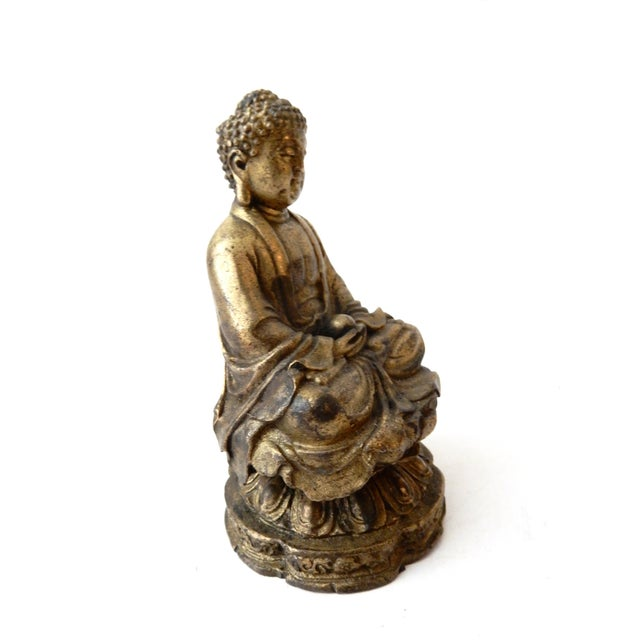 Brass Meditating Serenity Calming Buddha - Image 3 of 7