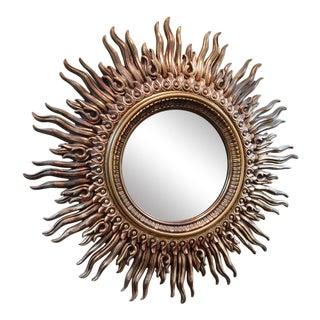 1980s Vintage Glam Gold Sunburst Wall Mirror